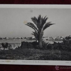 Postales: FOTO POSTAL DE IBIZA. VISTA GENERAL DE SAN ANTONIO ABAD. SIN CIRCULAR. Lote 43090021