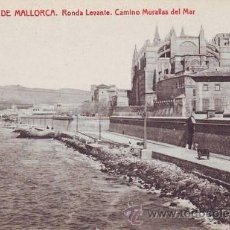 Postales: PALMA DE MALLORCA: RONDA LEVANTE. CAMINO MURALLAS DEL MAR.. Lote 43167969