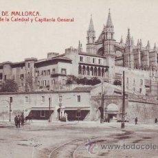 Postales: PALMA DE MALLORCA: VISTA DE LA CATEDRAL Y CAPITANÍA GENERAL.. Lote 43168025