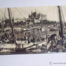 Postales: POSTAL DE PALMA DE MALLORCA (PUERTO Y CATEDRAL). Lote 43370791