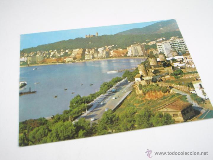 ANTIGUA POSTAL-ESPAÑA-PALMA MALLORCA-CASTILLO DE BELLVER Y PASEO-CIRCULADA-1955 (Postales - España - Baleares Antigua (hasta 1939))