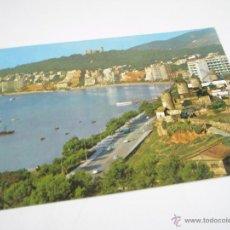 Postales: ANTIGUA POSTAL-ESPAÑA-PALMA MALLORCA-CASTILLO DE BELLVER Y PASEO-CIRCULADA-1955. Lote 43718779
