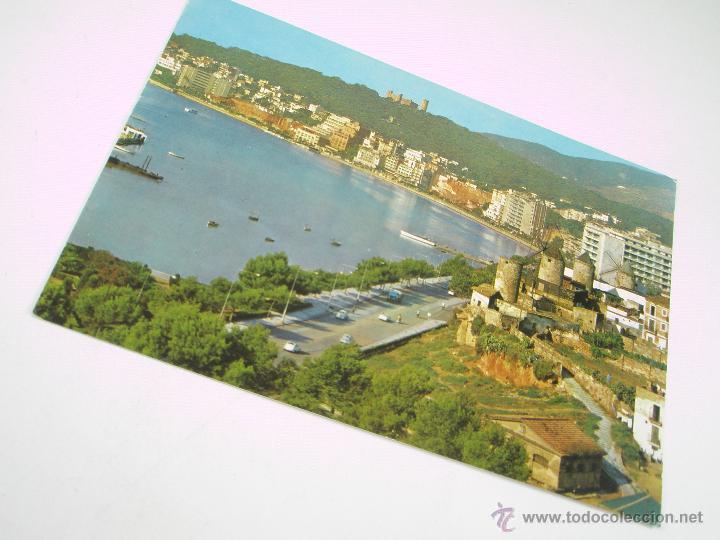 Postales: ANTIGUA POSTAL-ESPAÑA-PALMA MALLORCA-CASTILLO DE BELLVER Y PASEO-CIRCULADA-1955 - Foto 2 - 43718779