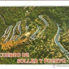 Postales: SOLLER (MALLORCA), CARRETERA DEL COLL, VISTA AÉREA - EDICIONES PALMA Mº 2603 - SIN CIRCULAR. Lote 43786381