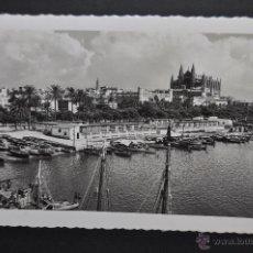 Postales: ANTIGUA FOTO POSTAL DE PALMA DE MALLORCA. MUELLE DE PESCADORES. CIRCULADA. Lote 43903396