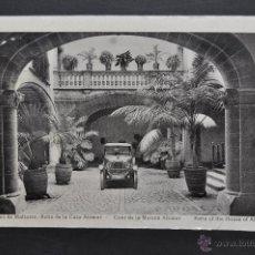 Postales: ANTIGUA FOTO POSTAL DE PALMA DE MALLORCA. PATIO DE LA CASA ALOMAR. FOT. L. ROISIN. CIRCULADA. Lote 43904672