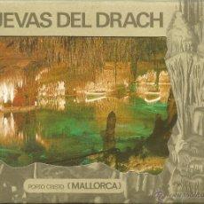 Postales: POSTALES BLOC DE 10 TARJETAS DE LAS CUEVAS DEL DRACH PORTO CRISTO MALLORCA. Lote 44193281