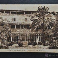 Postales: ANTIGUA POSTAL DE PALMA DE MALLORCA. CLAUSTRO DE SAN FRANCISCO. HUECOGRABADO MUMBRÚ. SIN CIRCULAR. Lote 44232355