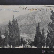 Postales: ANTIGUA POSTAL DE POLLENSA. MALLORCA. CALVARIO. FOTPIA. LACOSTE. CIRCULADA. Lote 44233371