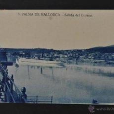 Postales: ANTIGUA POSTAL DE PALMA DE MALLORCA. SALIDA DEL CORREO. CIRCULADA. Lote 44233594