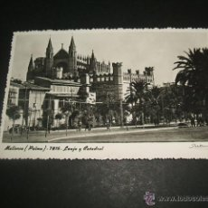 Postales: PALMA DE MALLORCA LONJA Y CATEDRAL. Lote 44468506
