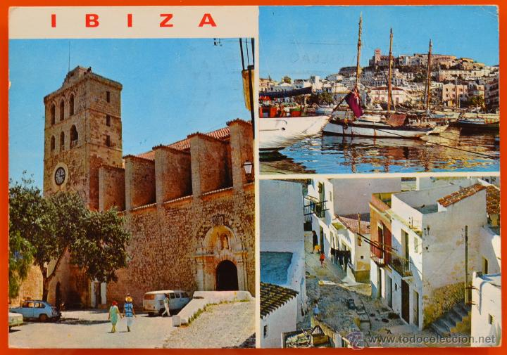 IBIZA - DETALLES DE LA CIUDAD - EXCLUSIVAS CASA FIGUERETAS - 275 - CIRCULADA (Postales - España - Baleares Moderna (desde 1.940))