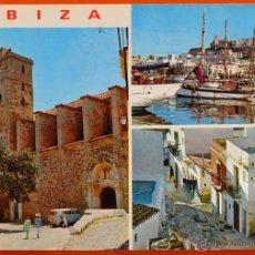 Postales: IBIZA - DETALLES DE LA CIUDAD - EXCLUSIVAS CASA FIGUERETAS - 275 - CIRCULADA. Lote 44673276