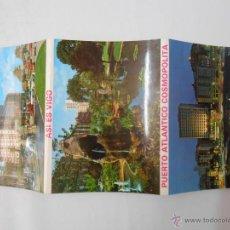 Postales: LOTE DE 10 POSTALES DE VIGO. A TODO COLOR. PUERTO ATLANTICO COSMOPOLITA. TDKP1. Lote 44937322