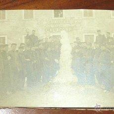 Postales: LOTE DE 3 ANTIGUA POSTAL MILITAR . CUARTEL CALACORP MENORCA . BILLETE BARCO MAHON 1916 NIEVE NEVADA. Lote 45220453