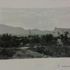 Postales: LÁMINA 24 X 30 CM FOTOTIPIA HAUSER Y MENET. INCA. Lote 45256199