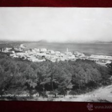 Postales: ANTIGUA FOTO POSTAL DE CAN PICAFORT. MALLORCA. VISTA DESDE LA RESIDENCIA DE E. Y D. FOT. ZERKOWITZ. Lote 45343566
