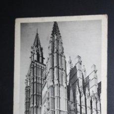 Postales: ANTIGUA FOTO POSTAL DE PALMA DE MALLORCA. CATEDRAL. SIN CIRCULAR. Lote 45398548