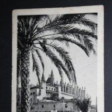 Postales: ANTIGUA FOTO POSTAL DE PALMA DE MALLORCA. CATEDRAL. SIN CIRCULAR. Lote 45398554