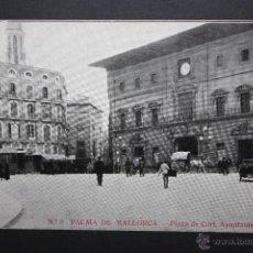 Postales: ANTIGUA POSTAL DE PALMA DE MALLORCA. PLAZA DE CORT, AYUNTAMIENTO. SIN CIRCULAR. Lote 45416598
