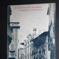 Postales: ANTIGUA POSTAL DE PALMA DE MALLORCA. DIPUTACION Y CALLE DE PALACIO. SIN CIRCULAR. Lote 45416958