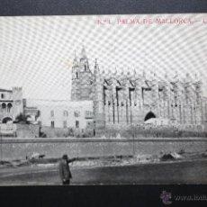 Postales: ANTIGUA POSTAL DE PALMA DE MALLORCA. CATEDRAL. SIN CIRCULAR. Lote 45417001