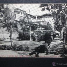 Postales: ANTIGUA POSTAL DE PALMA DE MALLORCA. JARDIN LATERAL DEL PASEO DEL BORNE. SIN CIRCULAR. Lote 45417240