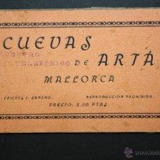 Postales: CARNET POSTAL DE CUEVAS DE ARTÁ. MALLORCA. CLICHÉ J. SANCHO. 15 TARJETAS. Lote 45462114