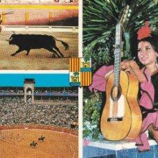 Postales: Nº 13554 POSTAL PLAZA DE TOROS Y BASILIO Y SUS DANZAS DE ESPAÑA PALMA DE MALLORCA. Lote 45733359