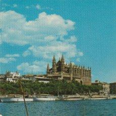 Postales: Nº 13843 POSTAL PALMA LA CATEDRAL MALLORCA BARCO. Lote 45760284