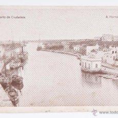 Postales: POSTAL DEL PUERTO DE CIUDADELA NUMERO 9, FOTOGRAFO A HERNANDO. Lote 45792003