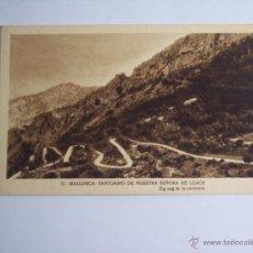 Postales: MALLORCA ( SANTUARIO DE NUESTRA SEÑORA DE LLUCH) ZIG-ZAG DE LA CARRETERA. Lote 46023932