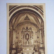 Postales: MALLORCA ( SANTUARIO DE NUESTRA SEÑORA DE LLUCH) ALTAR DEL CAMERÍN Y NICHO DE LA VIRGEN. Lote 46024058
