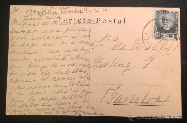 Postales: PALMA. MALLORCA. EL TERRENO Y CASTILLO DE BELLVER. HOTEL REINA VICTORIA. - Foto 2 - 46126457