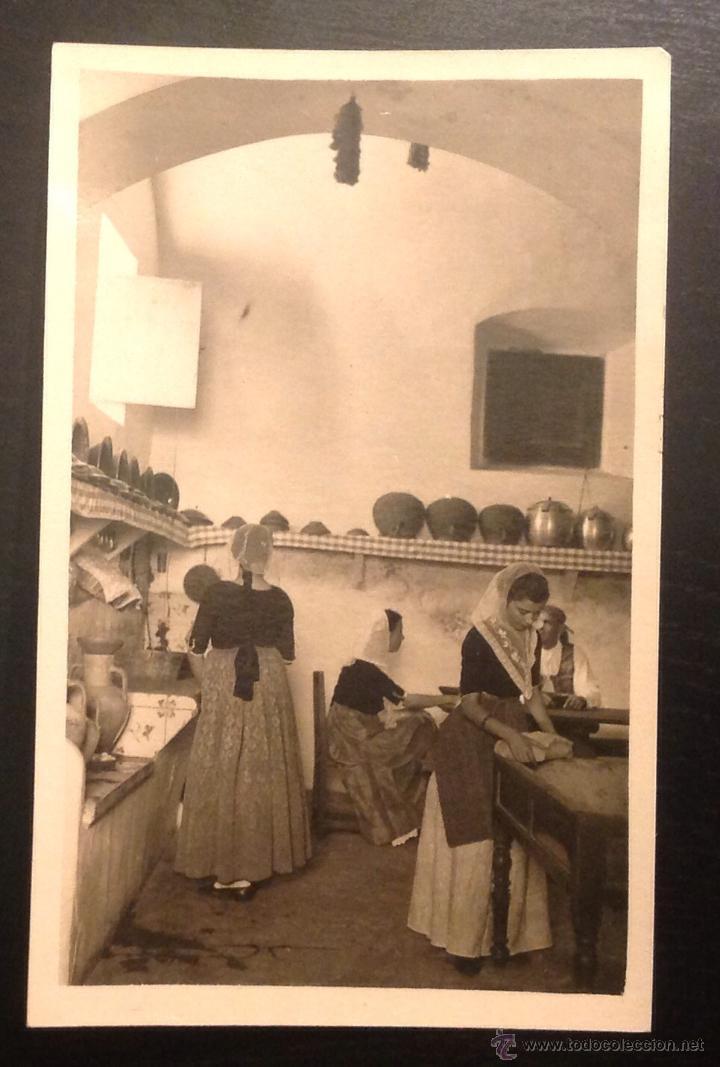 MALLORCA. BALEARES. PAYSAJES Y COSTUMBRES. COCINA. (Postales - España - Baleares Antigua (hasta 1939))