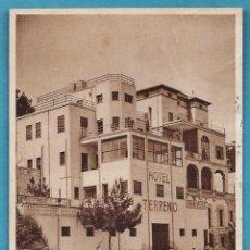 Postales: PALMA DE MALLORCA - HOTEL TERRENO CON PLAYA - Nº S/N - ED. RIESSET - ESCRITA - AÑOS 30. Lote 46303461