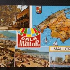 Postais: POSTAL CALA MILLOR , MALLORCA , CON SELLO EN REVERSO. Lote 46423840