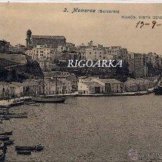 Postales: MAHÓN (MENORCA).- VISTA GENERAL DEL PUERTO. Lote 47549810