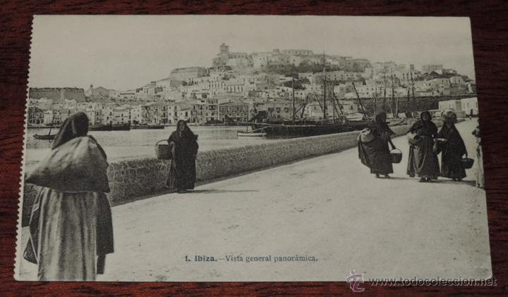 IBIZA (BALEARES) VISTA GENERAL PANORAMICA, J. LACOSTE 1 , SIN CIRCULAR (Postales - España - Baleares Antigua (hasta 1939))