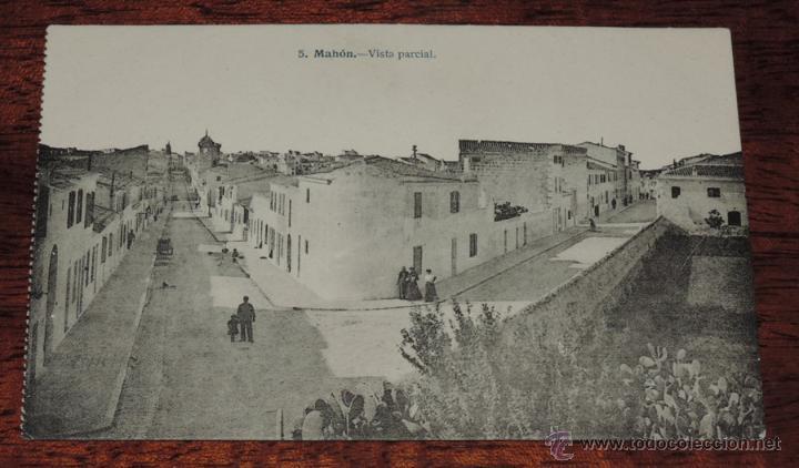 MAHON (BALEARES) VISTA PARCIAL, J. LACOSTE 5 , SIN CIRCULAR (Postales - España - Baleares Antigua (hasta 1939))