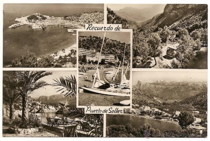 MALLORCA - RECUERDO DE PUERTO DE SOLLER - LABORATORIOS FOTOGRÁFICOS JORI - SIN CIRCULAR (Postales - España - Baleares Moderna (desde 1.940))