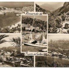 Postales: MALLORCA - RECUERDO DE PUERTO DE SOLLER - LABORATORIOS FOTOGRÁFICOS JORI - SIN CIRCULAR. Lote 47836165