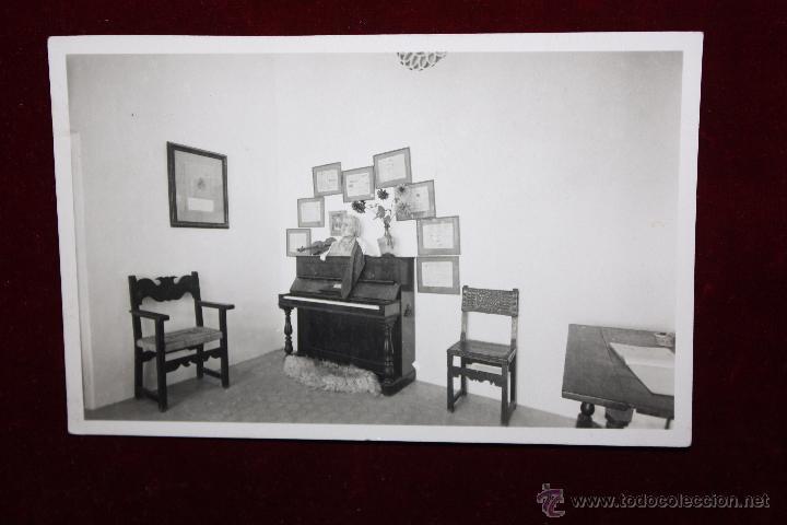 ANTIGUA FOTO POSTAL DE VALLDEMOSA. MALLORCA. PIANO MALLORQUÍN DE CHOPIN. SIN CIRCULAR (Postales - España - Baleares Antigua (hasta 1939))