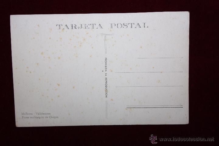 Postales: ANTIGUA FOTO POSTAL DE VALLDEMOSA. MALLORCA. PIANO MALLORQUÍN DE CHOPIN. SIN CIRCULAR - Foto 2 - 48375728