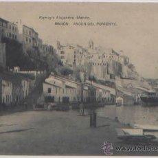 Postales: POSTAL MENORCA MAHON ANDEN DEL PONIENTE ED. REMIGIO ALEJANDRE FOTOTIPIA HAUSER Y MENET. Lote 48380583