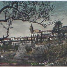 Postales: POSTAL MALLORCA VALLDEMOSA DETALLE DE LA CARTUJA ED. ZERKOWITZ N0 1034 BALEARES COLOREADA. Lote 48504938