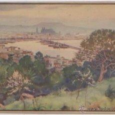 Postales: POSTAL PALMA DESDE GENOVA ALMENDROS EN FLOR MALLORCA ERWIN HUBERT BALEARES. Lote 48650986