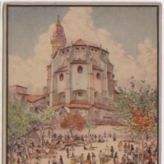 Postales: POSTAL PALMA DE MALLORCA PLAZA QUADRADO CUADRADO CON IGLESIA SAN FRANCISCO ERWIN HUBERT BALEARES. Lote 48651047