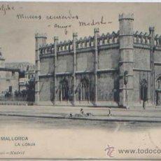 Postales: POSTAL PALMA DE MALLORCA LONJA ED. HAUSER Y MENET N0 350 SIN DIVIDIR CUÑO GRAND HOTEL 1903 BALEARES. Lote 48978290