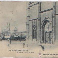 Postales: POSTAL PALMA MALLORCA PUERTA LONJA PUERTO ED. HAUSER Y MENET N0 1214 CUÑO GRAND HOTEL 1903 BALEARES. Lote 48989518
